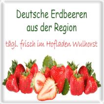 Frische deutsche Erdbeeren
