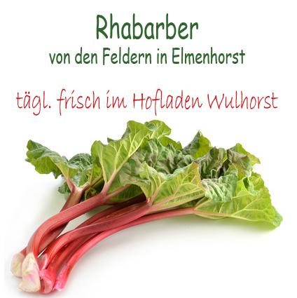 Rhabarber im Hofladen Wulhorst Waltrop